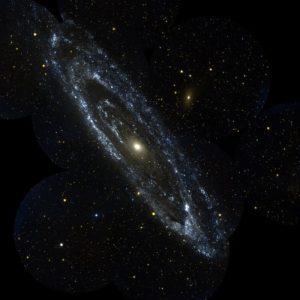 Галактика Андромеды в ультрафиолетовых лучах