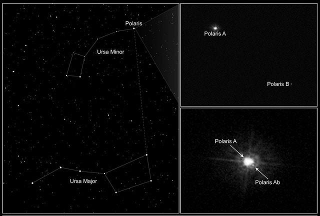 Полярная звезда. Вид с HST.