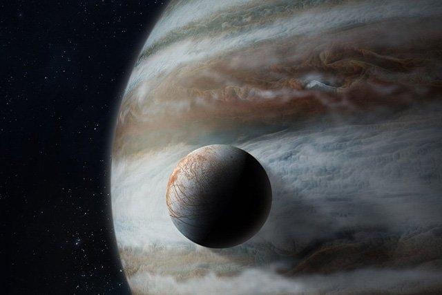 Юпитер и спутник Европа
