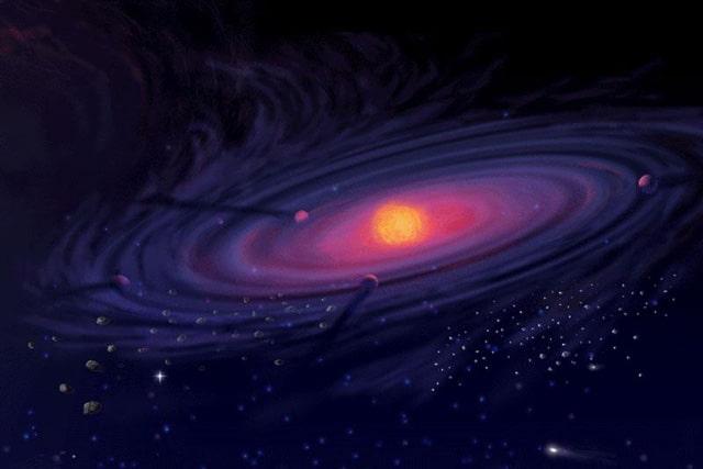 Протосолнце и протопланеты