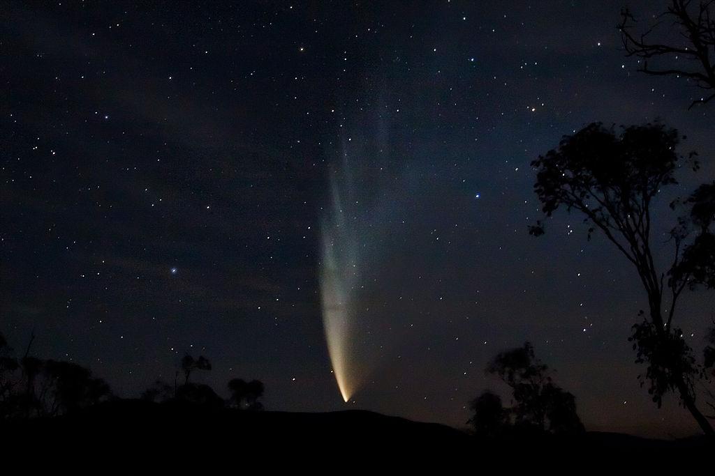 Комета Макнота 23 января 2007 года, бухта Свифта, Виктория, Австралия
