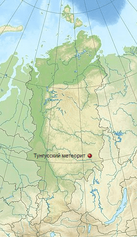 Где упал тунгусский метеорит