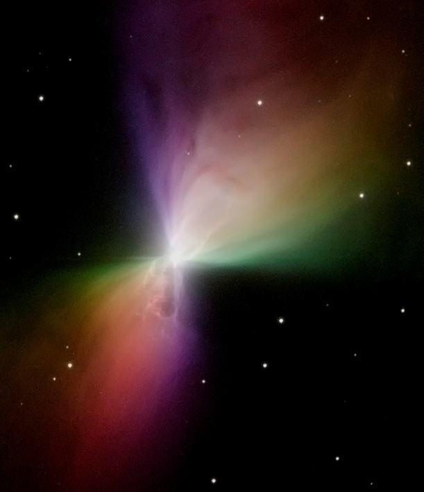 Изображение с телескопа «Хаббл», полученное с использованием поляризационных фильтров