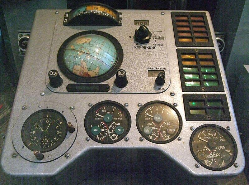 Приборная панель корабля «Восток-1» Ю. А. Гагарина. Центральный Музей Вооруженных Сил, Москва
