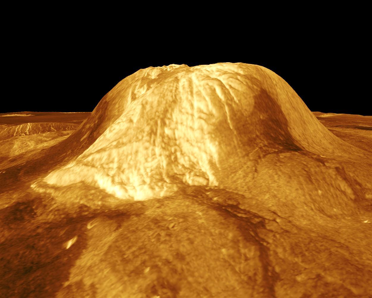 Гула Монс - вулкан на Венере, это 3 километра высотой и расположена примерно в 22-м градусе северной широты, 359 градусов восточной долготы.