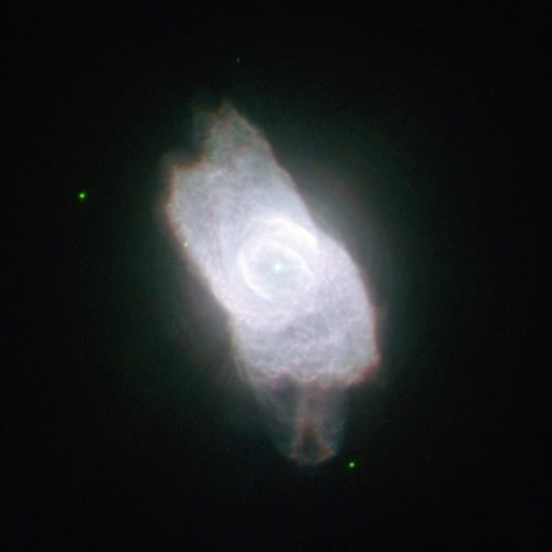 Планетарная туманность NGC 6572 в созвездии Змееносца, открытая В. Я. Струве