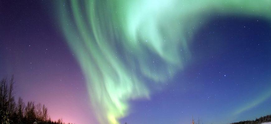 Где можно увидеть северное сияние