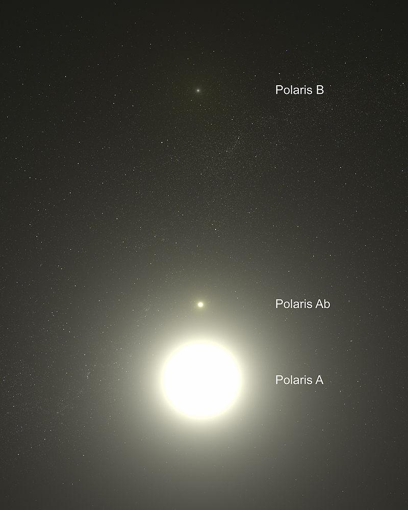Полярная звезда и её компаньоны. Снимок Космического телескопа «Хаббл»