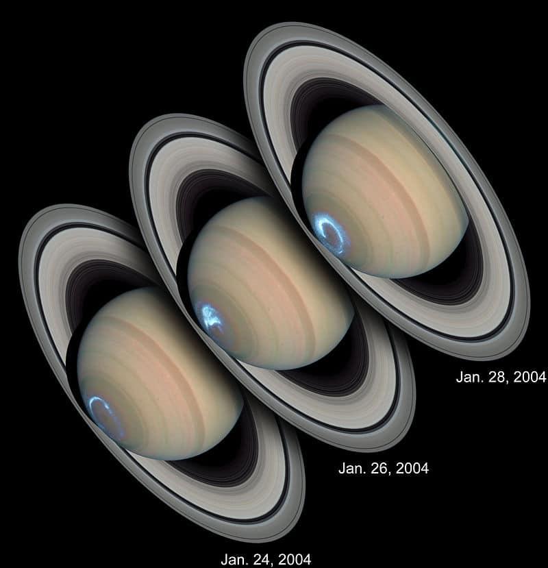 Полярное сияние на Сатурне