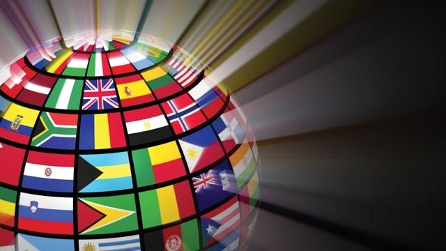 Глобус и страны