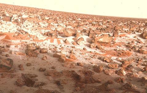 Иней на поверхности Марса (снимок аппарата «Викинг-2»)