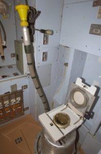 Туалет, расположенный в модуле «Звезда»