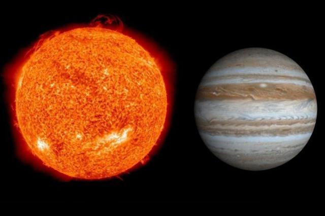 Солнце и Юпитер