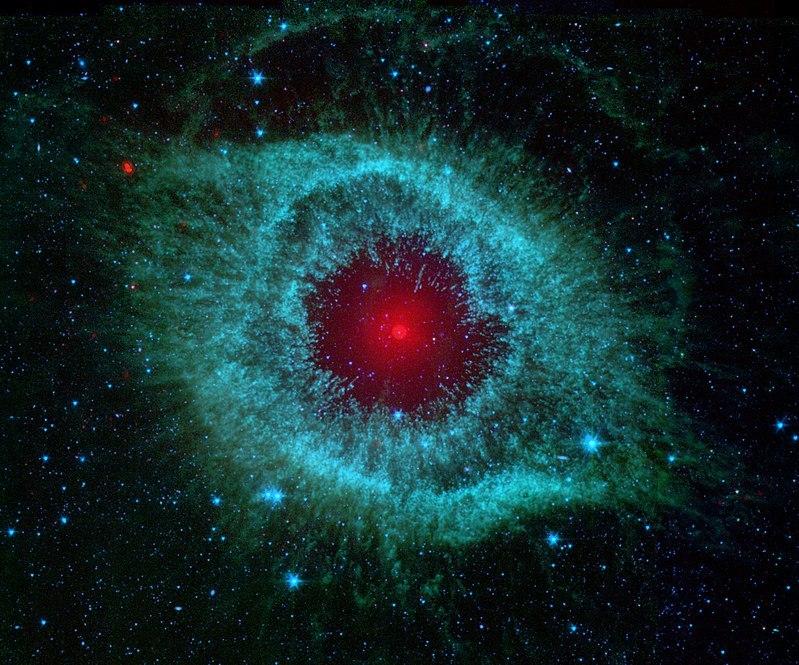 Изображение в инфракрасном диапазоне, полученное при помощи космического телескопа «Спитцер»