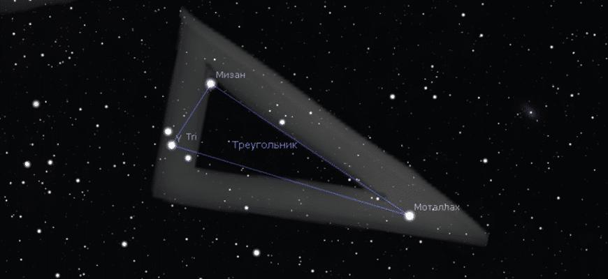 Созвездии Треугольник