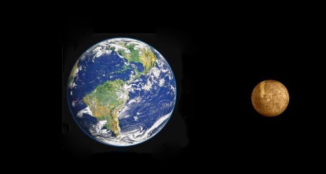 Сравнение Меркурия и Земли