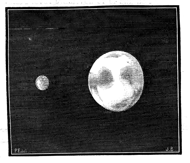 Так, по мнению художника Жозефа Бертрана (1882 год), выглядела бы Венера, если бы у неё имелся спутник.
