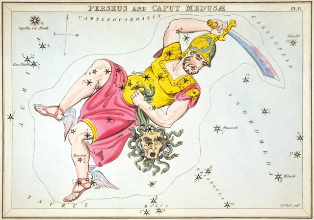 Изображение Персея и головы Горгоны из Urania's Mirror