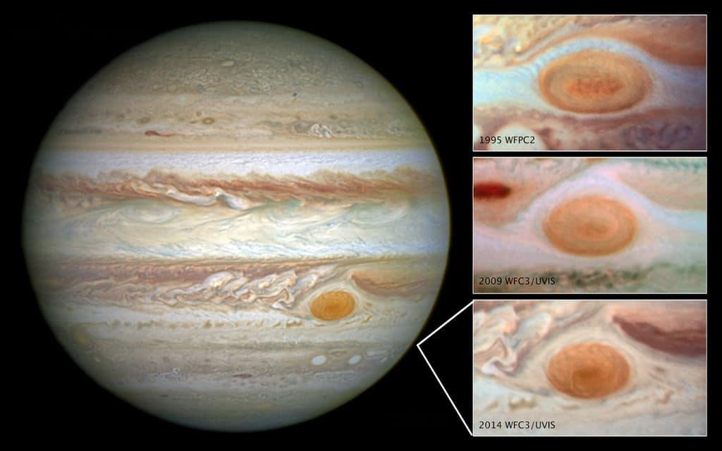 Юпитер — Большое красное пятно уменьшается в размере (15 мая 2014 г.).
