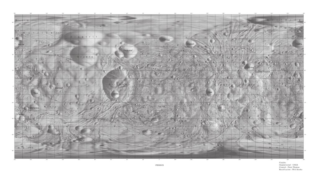 Карта Фобоса.