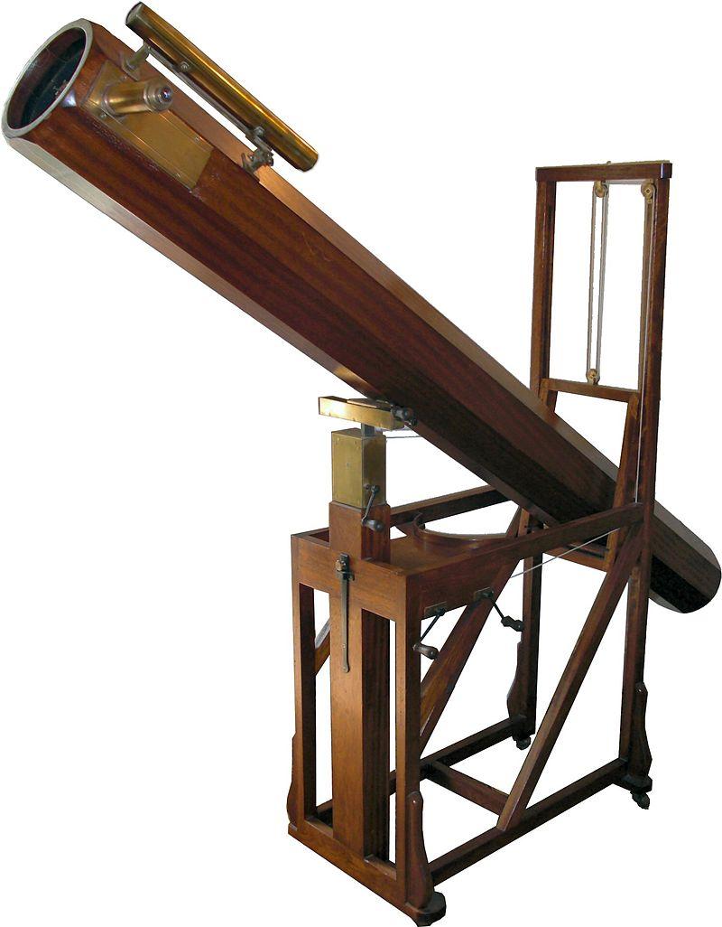 Модель телескопа, с помощью которого Гершель открыл Уран. Находится в музее Уильяма Гершеля, в городе Бат (Англия)