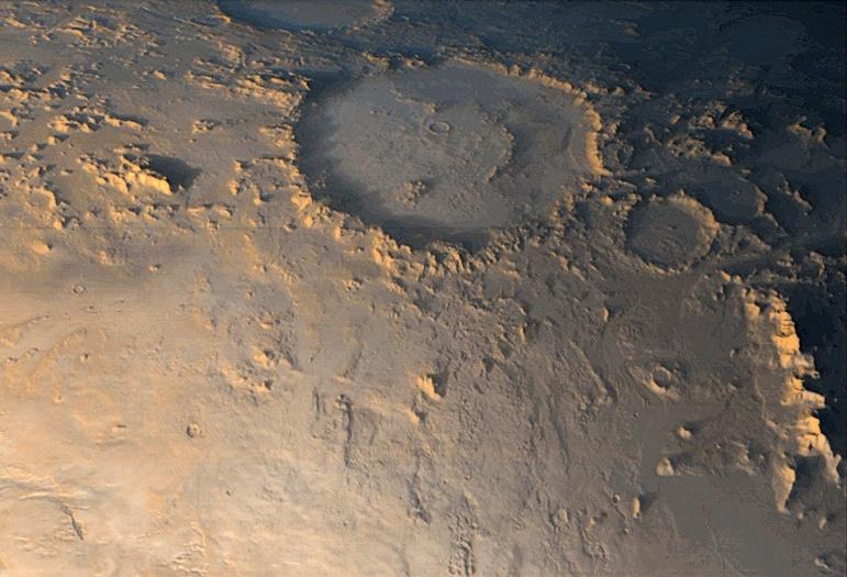 Марса, Кратер Галле