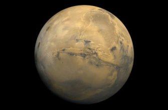 Размер Марса