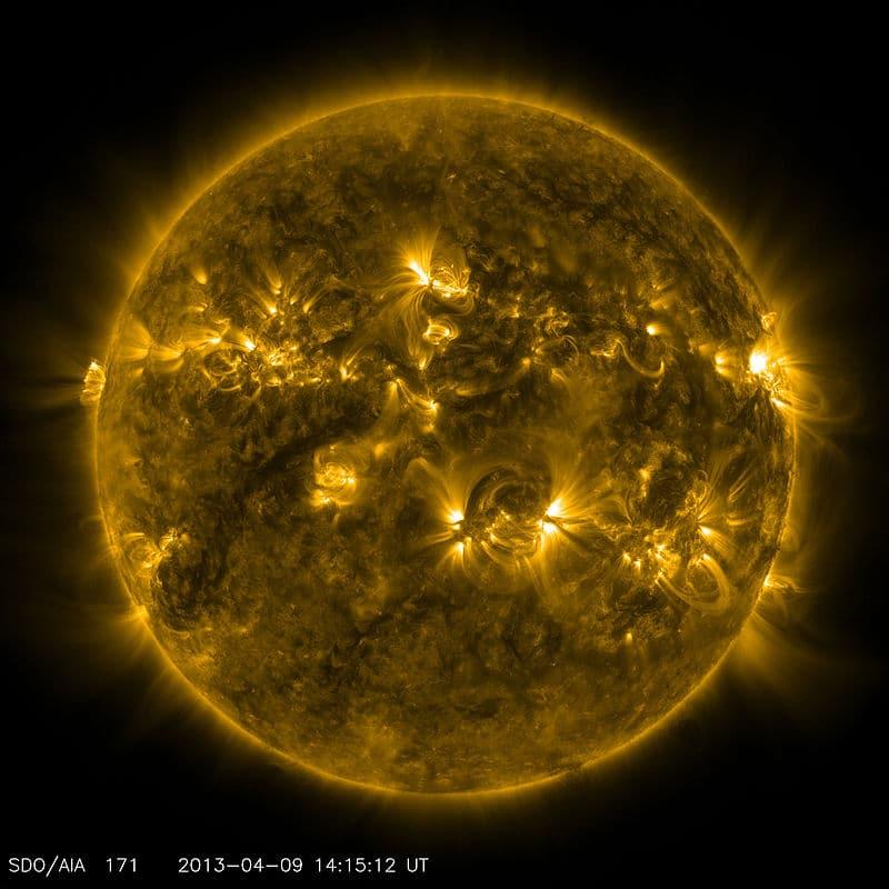 Снимок Солнца 9 апреля 2013 года. Иллюстрация NASA/SDO.