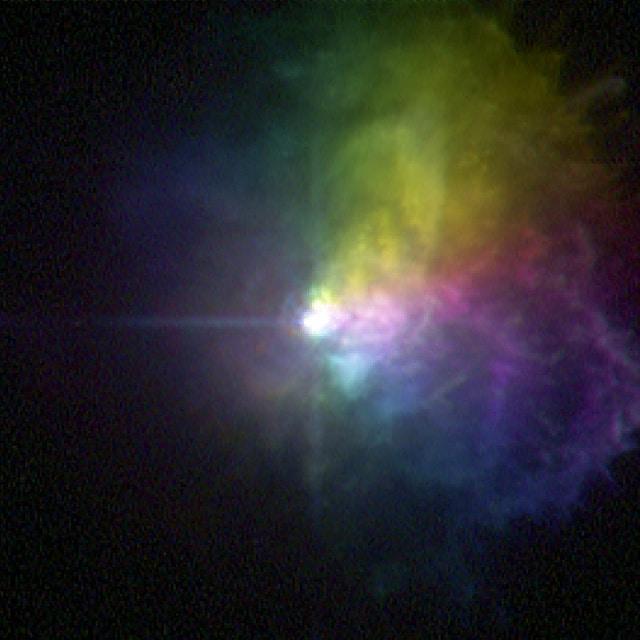 VY Большого Пса выбрасывает огромное количество газа во время своей вспышки