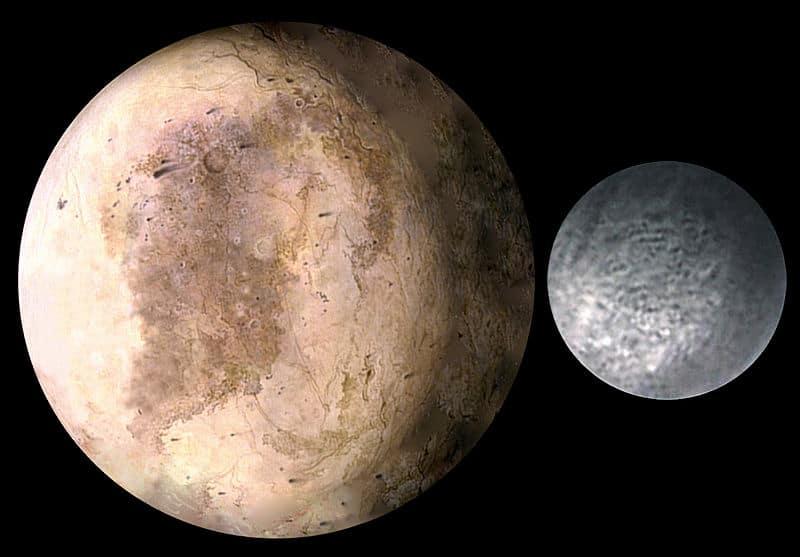 Размер Плутона