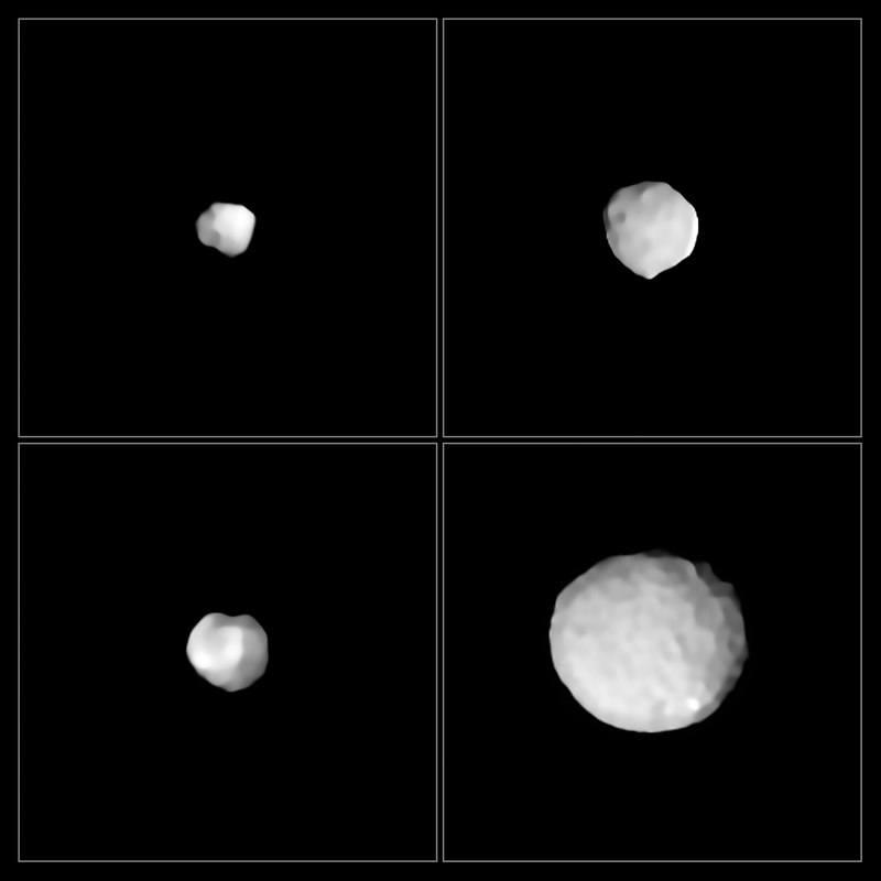 Снимки астероидов Паллада, Амфитрита, Бамберга и Юлия.