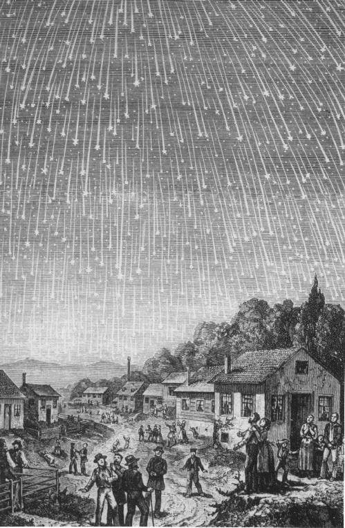 Метеорный поток Леониды в 1833 год