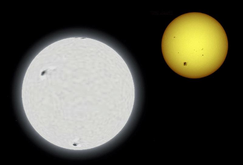 Сириус и Солнце
