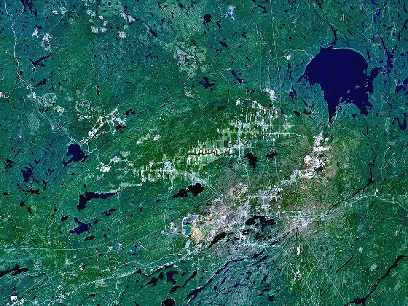 Спутниковый снимок Садбери