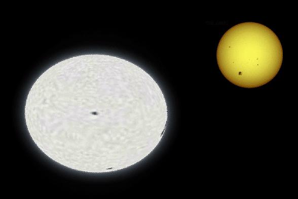 Вега и Солнце в сравнении