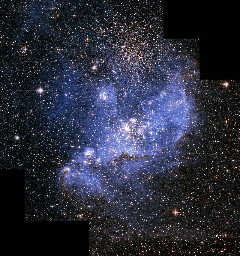 NGC 346, рассеянное скопление в Малом Магеллановом Облаке.