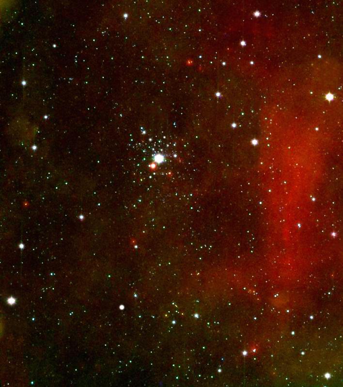 Тау Большого Пса в й рассеянном звёздном скоплении NGC 2362