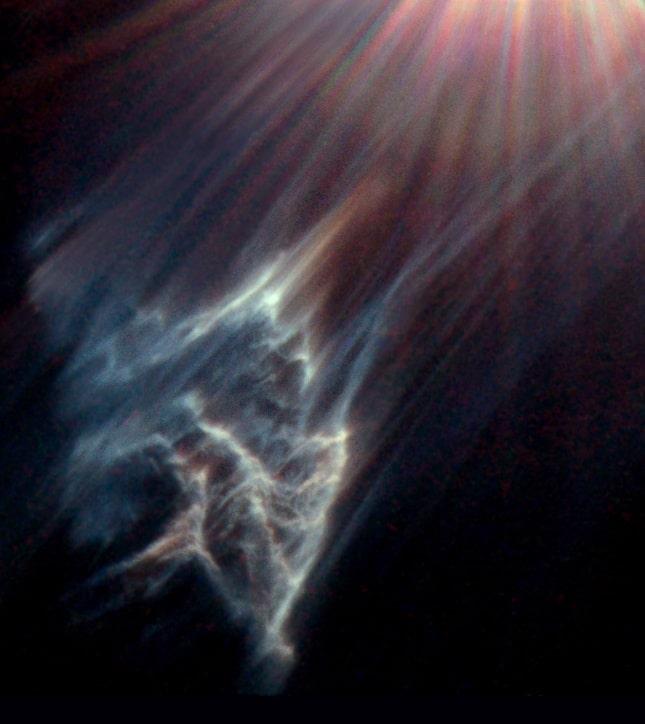 Отражательная туманность около звезды Меропы (снимок телескопа Хаббл)