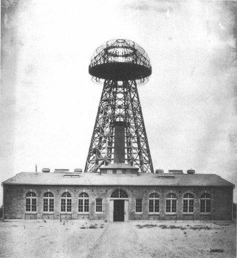 Башня Ворденклиф на фото 1904 года