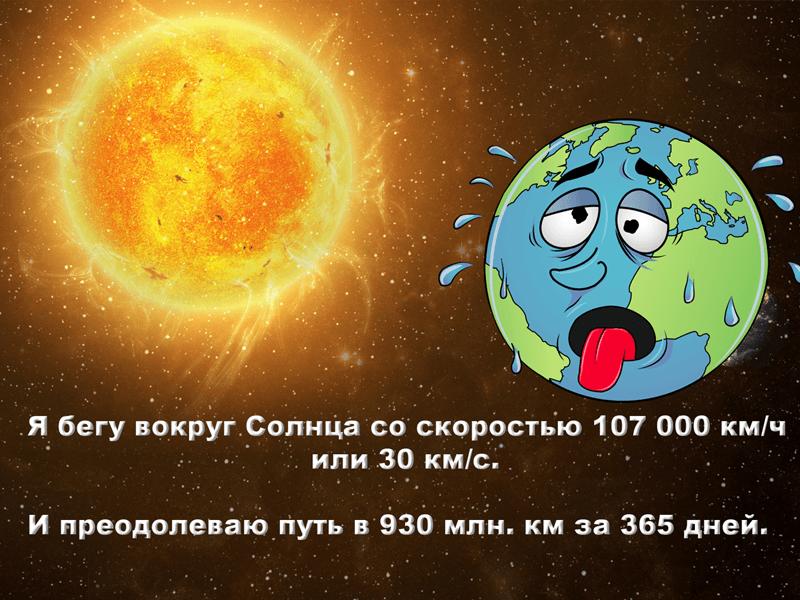 Скорость Земли вокруг Солнца