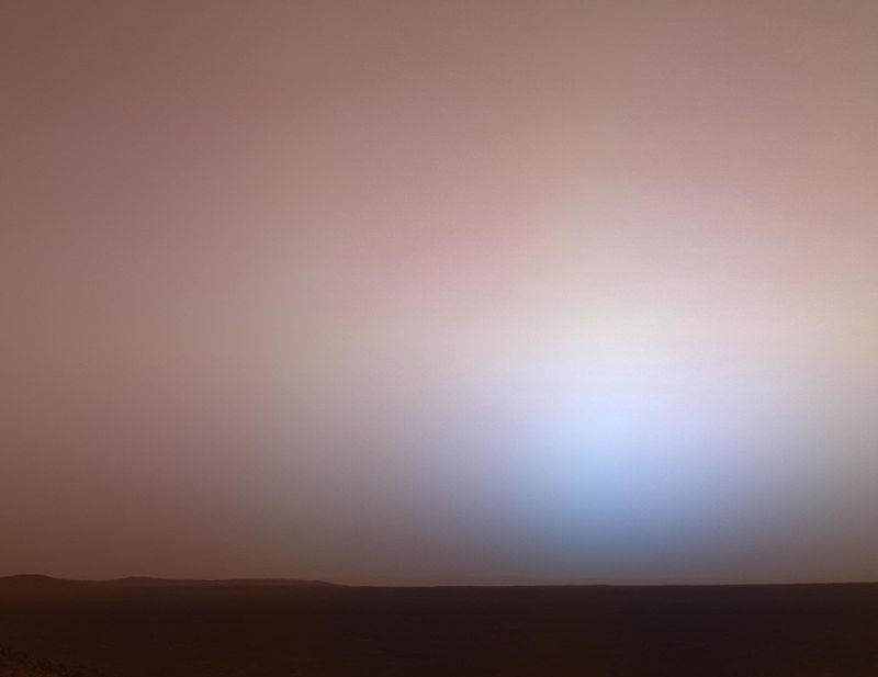 Сумерки у кратера Гусева, Марс.