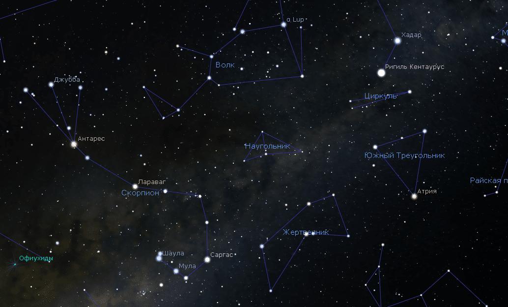 Созвездие наугольника