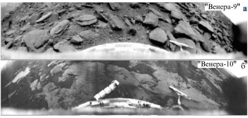 Панорамы «Венеры-9» и «Венеры-10» в исходной обработке 1976 -1985 год.