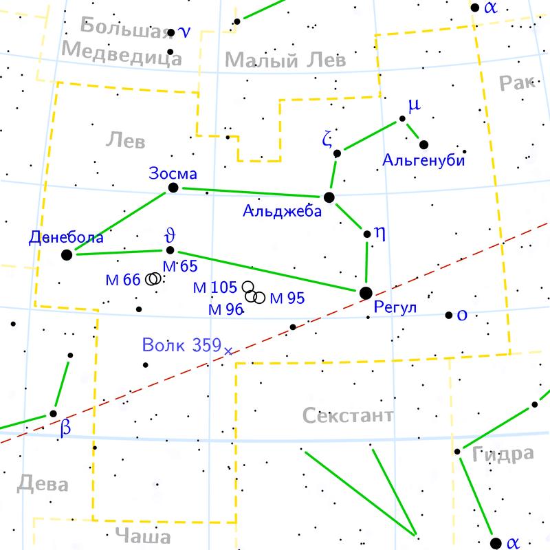 Расположение Регула