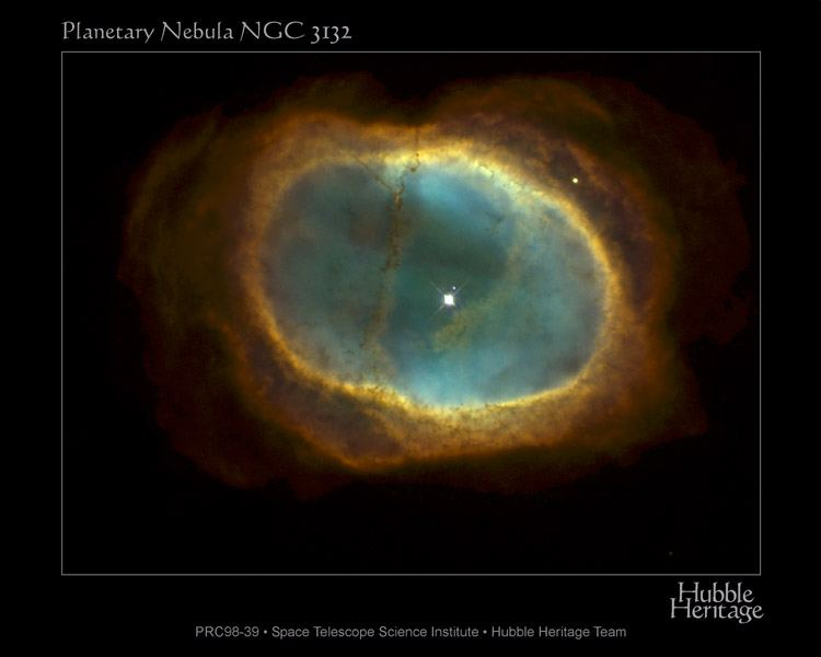 Планетарная туманность NGC 3132: в центре двойная звезда — аналог Сириуса