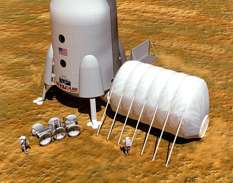 Конструкция будущей Марсианской колонии предполагает обязательную защиту от радиации